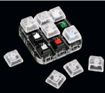 ?? ?? A keycap tester is well worth the investment to learn which switch types you like best.