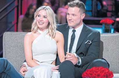 """?? JOHN FLEENOR ABC FILE PHOTO ?? Colton Underwood proposed to Cassie Randolph on his season of """"The Bachelor"""" in 2019. Underwood has now come out as gay."""
