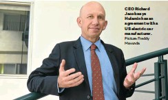 ?? Picture: Freddy Mavunda ?? CEO Richard Jacob says Hulamin has an agreement with a US electric car manufacturer.