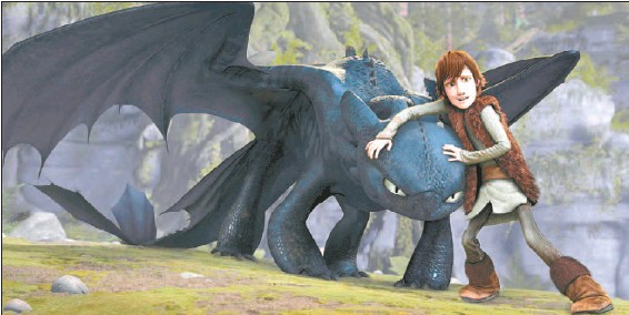 ??  ?? This gentle story of how Hiccup (voiced by Jay Baruchel) befriends a dragon should please both kids and their parents.