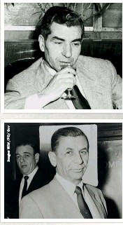 ??  ?? LEFT, TOP: Charles 'Lucky' Luciano, an organised crime boss, presided over the Havana Conference held in the Cuban capital in 1946 LEFT: Meyer Lansky was a major organised crime figure and key player in the rise of criminal activity in Cuba