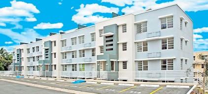 ??  ?? La unidades tienen desde 1,160 hasta 1,560 pies cuadrados de construcción.