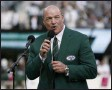?? KATHY WILLENS - THE ASSOCIATED PRESS ?? FILE - In this Oct. 13, 2013, file photo, Marty Lyons speaks as he is inducted into the New York Jets' Ring of Honor during a halftime ceremony of the team's NFL football game against the Pittsburgh Steelers in East Rutherford, N.J.