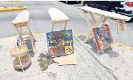 ??  ?? Streetside art along South Avenue.