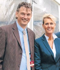 ?? Picture: Craig Stephen. ?? Erik and Patricia Hogervorst. Mr Hogervorst, chairman of Climmar, explained changes which will open up the tractor servicing and repair sector.