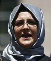 ?? Ap ?? Op de gsm van Hatice Cengiz, de verloofde van de vermoorde journalist Jamal Kashoggi, werd ook spyware gevonden.
