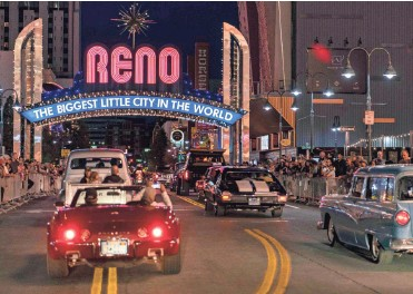 ?? HANNAH GABER/USA TODAY ?? Reno's downtown is still dominated by the hotel casinos of years past.