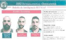 ??  ?? Fotos de las tres personas supuestamente ligadas al EI retenidas en Nicaragua.