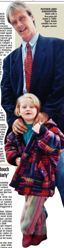 ??  ?? FA­THER AND DAUGH­TER: Mark with a five-year-old Adele in 1993.