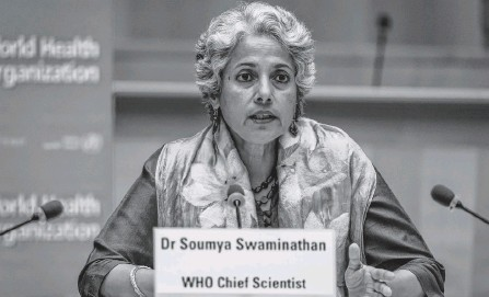 ?? REUTERS ?? World Health Organization Chief Scientist Soumya Swaminathan attends a press conference at the WHO headquarters in Geneva, Switzerland, last July 3.