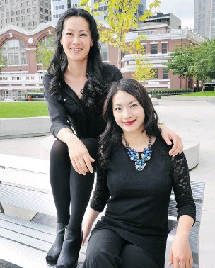 ?? WAYNE LEIDENFROST/ PNG ?? Olivia Cheng, left, and Alice Chen are two of the co- founders of One Asian, a business venture that works to empower women of East Asian and southeast Asian heritage.