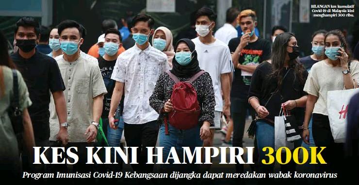 ??  ?? BILANGAN kes kumulatif Covid-19 di Malaysia kini menghampiri 300 ribu.