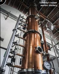 ??  ?? Sababay's copper alembic distillery