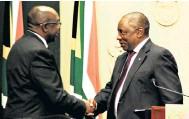 ??  ?? Minister of finance Nhlanhla Nene and President Cyril Ramaphosa