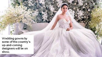 ??  ?? Wedding gowns by some of the country's up-and-coming designers will be on show.