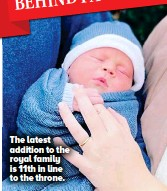 ??  ?? The latest addition to the royal family is 11th in line to the throne.