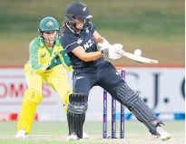 ?? Photo / Getty Images ?? White Ferns batter Amelia Kerr was top scorer for the Kiwis as they folded for 200 all out, losing by 71 runs against the might of Australia in the second ODI at Mt Maunganui yesterday.