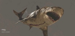 ??  ?? top left: a muscle simulation is created for the Megalodon