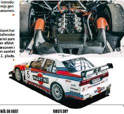 ??  ?? Eksemplaret her havde italienske Nicola Larini som fører. Han afsluttede Itc-saesonen i 1996 på en samlet 11. plads. ▼