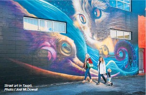 ??  ?? Street art in Taupō. Photo / Joel McDowell