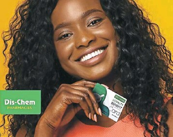 ?? Picture: Supplied ?? Dis-Chem rewards and benefits are awarded across the chain's shopping channels.