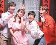 ??  ?? 趙潔瑩今年自組團隊、開工作室,還邀來歌手好友一起參與新年歌《微笑幸福年》。