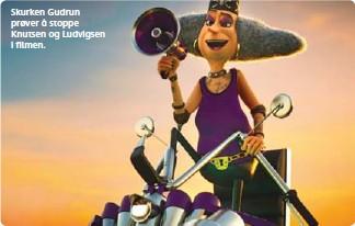 ??  ?? Martin (11) Skurken Gudrun prøver å stoppe Knutsen og Ludvigsen i filmen.