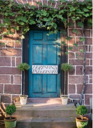 ??  ?? Located in what was originally the kitchen of Jan Hoffman and David Woodward's 18th- century house, the couple's store is a showcase for their meticulously handmade furniture and fixtures, including their coveted copper sinks, hardwood stools, and...