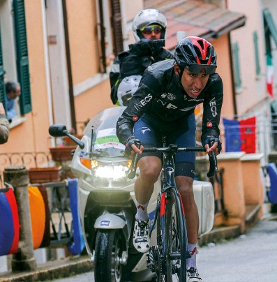 ??  ?? Bernal rode a consistent race to finish fourth in Tirreno this spring