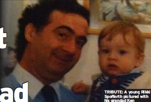 ??  ?? TRIBUTE: A young Rikki Spofforth pictured with his grandad Ken