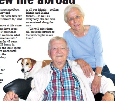 ?? Tamlyn Jolly ?? Hans and Julie Oldenburg with their dog Snippy