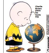 ??  ?? Charlie Brown plans his Scots trip