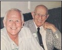 """??  ?? Dr. Selden C. Beebe, left, followed his father, Dr. Edson Beebe, into practicing medicine. """"I respected and revered him so much,"""" Selden said of his father."""