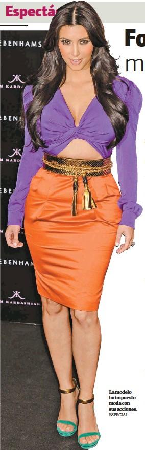 ?? ESPECIAL ?? La modelo ha impuesto moda con sus acciones.