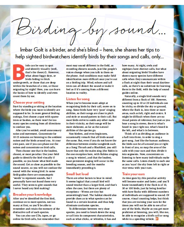 PressReader - Bird Watching (UK): 2019-05-01 - Birding by sound