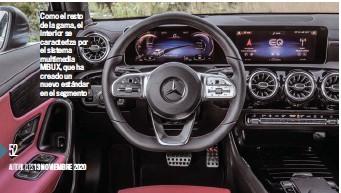 ??  ?? Como el resto de la gama, el interior se caracteriza por el sistema multimedia MBUX, que ha creado un nuevo estándar en el segmento