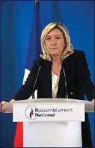 ??  ?? Marine Le Pen plaide pour des mesures «territorialisées».
