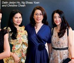 ??  ?? Datin Jeslyn Ho, Ng Sheau Yuen and Christine Cheah