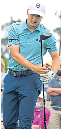 ??  ?? Will Jordan Spieth's track record at Augusta pay a dividend?