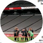 ??  ?? The Football Ferns began Kiwi involvement at the Games with a loss to Australia in an empty stadium.