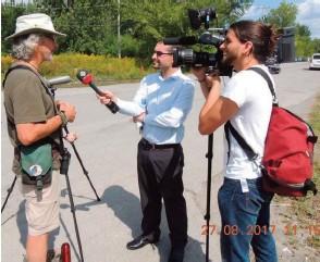 ??  ?? Joel Coutu talks to CBC ©John Symon