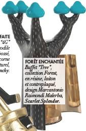 """??  ?? FORÊT ENCHANTÉE Buffet """"Tree"""", collection Forest, en résine, laiton et contreplaqué, design Marcantonio Raimondi Malerba, Scarlet Splendor."""