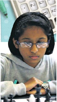 ??  ?? Arya Singh of Richards Bay Christian School is always focused on her next chess move