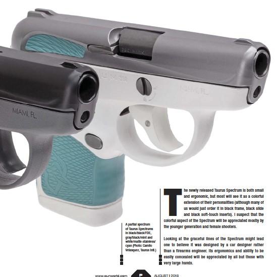 PressReader - Gun World: 2018-08-01 - TAURUS SPECTRUM