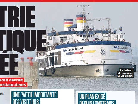 ??  ?? Le bateau de croisière Louis-jolliet