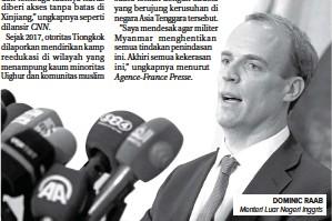 ?? ASHRAF SHAZLY/AFP ?? DOMINIC RAAB Menteri Luar Negeri Inggris