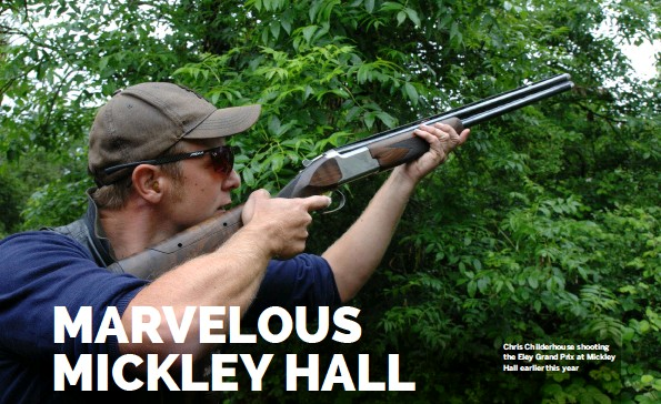 ??  ?? Chris Childerhouse shooting the Eley Grand Prix at Mickley Hall earlier this year