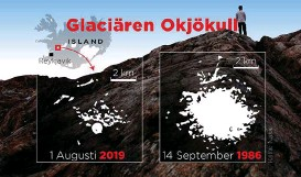 ?? Bild: Mikael Andersson ?? glaciären Okjökull.
