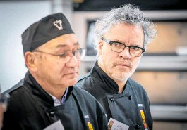 ??  ?? Celebrity chef Peter Gordon helped with the judging at the NZ Bakels Supreme Pie Awards this year.