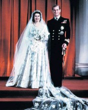 ??  ?? A real regal match: the Duke of Edinburgh and Queen Elizabeth in 1959, above; on their wedding day in 1947, left The Queen by Matthew Dennison will be published by Apollo on June 3, £25